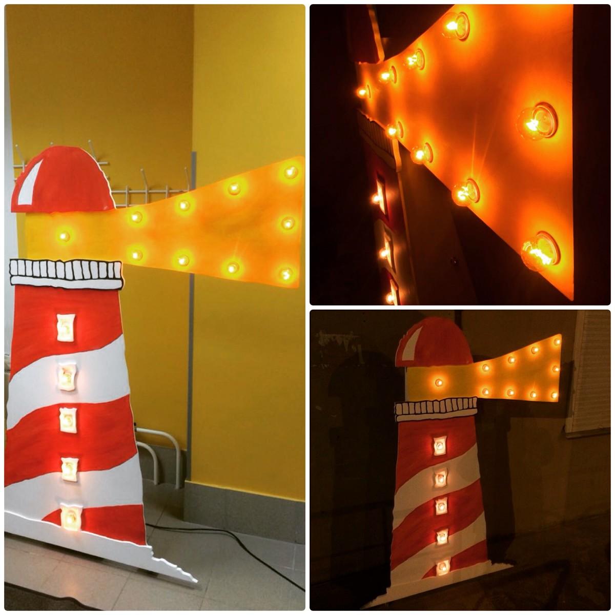 Как сделать маяк чтобы светился